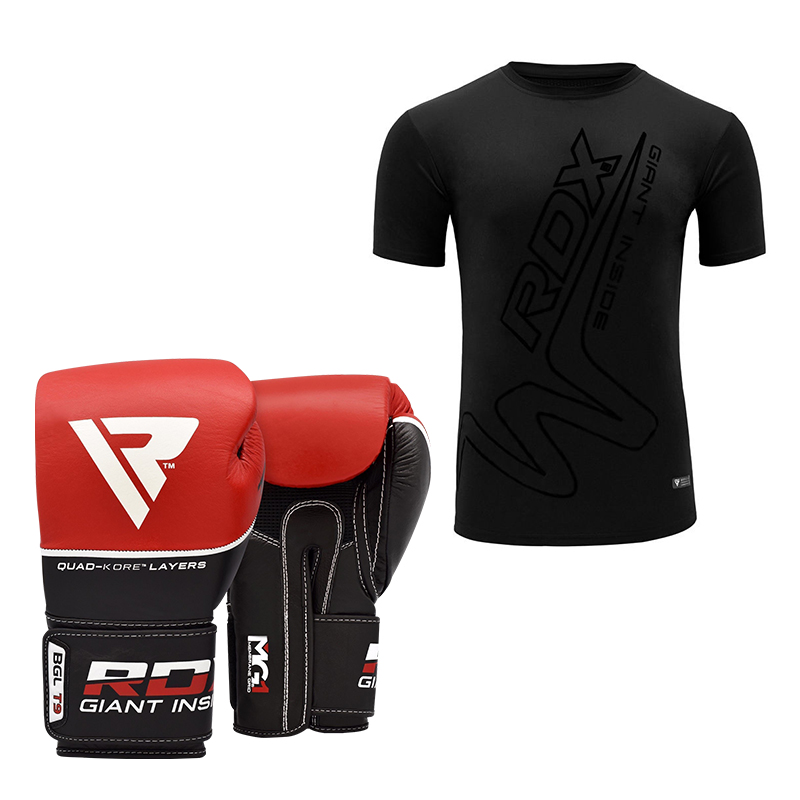 RDX T9 Boxing Gloves And T-Shirt