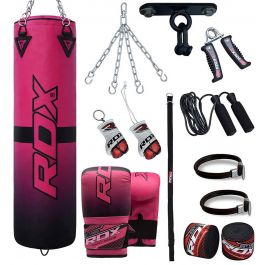 RDX Punching Bag Ladies Boxing Filled Gloves Womens Punch Heavy Speed Kick 4FT