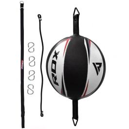 PU Boxing Speed Dodge Ball MMA Double End Punch Bag W// Floor to Ceiling Rope