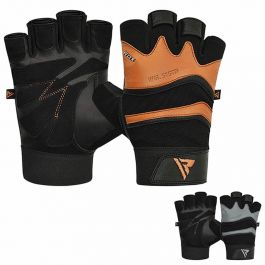 Details about  /RAXID Gym Gloves Leather Workout Weight Lifting Fitness Training Cycling Grips