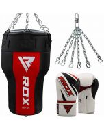 RDX AR Angle Boxing Bag WIth Gloves