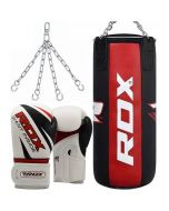 RDX X3 3FT Pro Punch Bag with Gloves