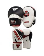RDX 1W Boxing Gloves & Pads Set