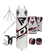 RDX F10 8Pc Punch Bag with Bag Mitts