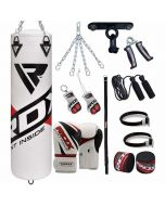 RDX 13Pc F10 Filled Punch Bag with Boxing Gloves