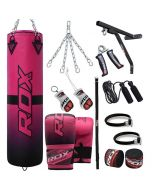 RDX F15 4ft 17pc Punch Bag Set