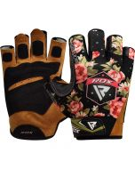RDX F23 Floral Gym Gloves for Women