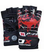 RDX F2 Schwarze MMA Handschuhe aus Leder