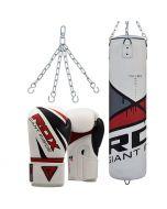 RDX F7 Ego Punch Bag with Gloves set