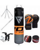 RDX FO 8pc Orange Punch Bag Set
