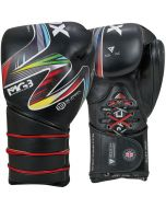 RDX Icon 5 Nova Tech Leather Boxing Sparring Gloves