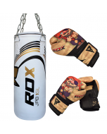 RDX Kids 2ft Filled Punch Bag & Gloves Set