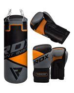 RDX 8O Arancione Bambini Sacchi Boxe & Guanti Set