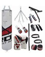 RDX 17pc F7 Punching Bag & Boxing Set