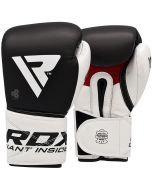RDX S5 Black Leather Boxing Sparring Gloves