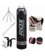 RDX X1 8pc Black Punch Bag With Gloves