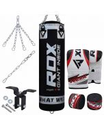 RDX X1 8pc Punch Bag & Boxing Set