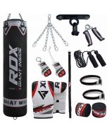 RDX X1B 13pc Punch Bag & Boxing Set