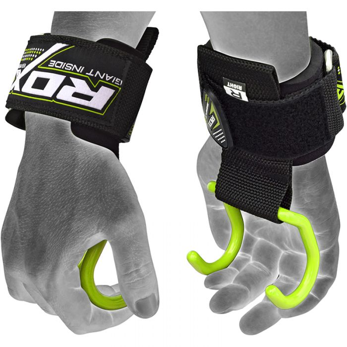Weight Lifting Hooks Reverse Grips Gym Training Bar Straps Gloves Wrist Support