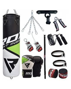 RDX 13pc FG Boxing Bag & Gloves Set