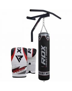 RDX CBR Black 5ft Filled Punching Bag with Pull up Bar Set