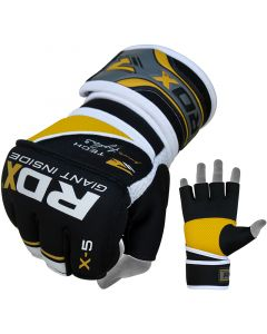 RDX X5 Small Yellow Neoprene MMA Fight Gloves