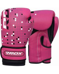 RDX 3B Dino 4oz Pink Leather X Boxing Gloves