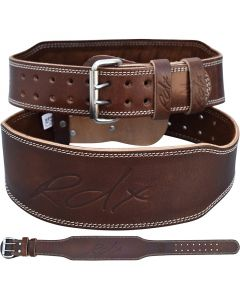 RDX 4 Inch Small Brown Leather WeightLifting Belt
