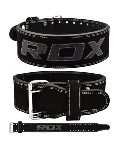 RDX 4PB Leather Powerlifting Belt