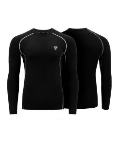 RDX L5 Small Black Polyester Long Sleeve Rash Guard