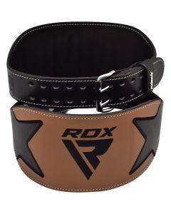 RDX 6 дюймов коричневый кожаный ремень тяжелой атлетике S