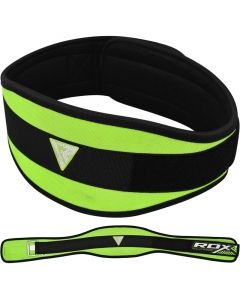 RDX 9C 6 Inch Weightlifting Belt Green Small