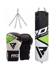 RDX F11 Punch Bag & Boxing Gloves-Filled-12oz-4 ft