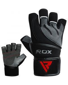 RDX L4  Deepoq Small Grey Leather Gym Gloves