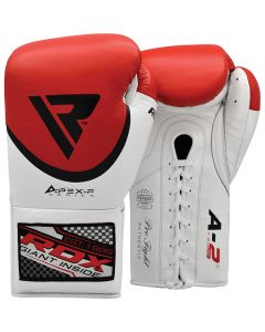 RDX A2 8oz Red Leather Professional Boxing Gloves