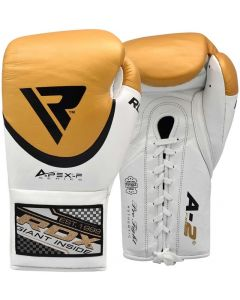 RDX A2 8oz Golden Leather Professional Boxing Gloves