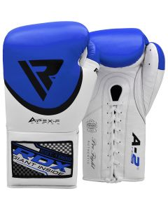 RDX A2 8 oz Blue Professional Boxing Gloves