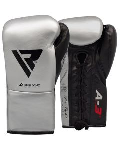 RDX A3 8oz Silver Leather Professional Boxing Gloves
