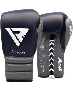 RDX A4 10oz Blue Leather Professional Boxing Gloves