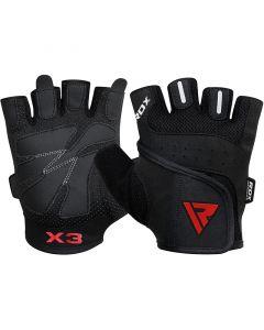 RDX S2 Black Bodybuilding Gym Gloves