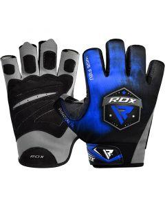 RDX F12 Small Blue Lycra Weightlifting Gym Gloves