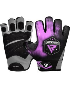 RDX F12 Small Purple Lycra Weightlifting Gym Gloves