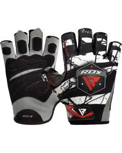 RDX F11 Small White Lycra Bodybuilding Gym Gloves