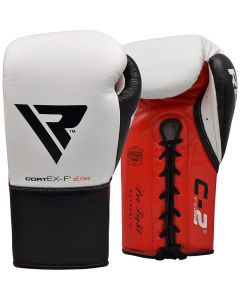 RDX C2 8oz White Leather Professional Boxing Gloves