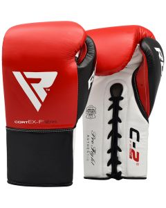 RDX C2 8oz Red Leather Professional Boxing Gloves