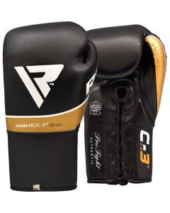 RDX C3 Professional Boxing Gloves Black 8oz