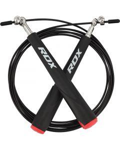 RDX C6 Черная регулируемая скакалка