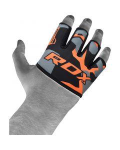 RDX 4O Orange Camo Weight Lifting Grip