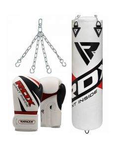 RDX F10 Punch Bag with Gloves 4 ft Filled 12oz