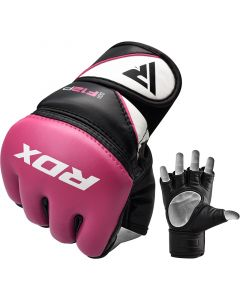 RDX F12 Small Pink Leather X Ladies MMA Gloves